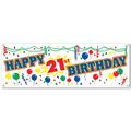 "Happy ""21st"" Birthday Sign Banner"