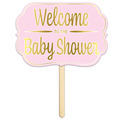 Foil Welcome ToThe Baby Shower Yard Sign