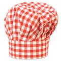 Gingham Fabric Chef's Hat