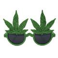 Glittered Weed Glasses