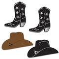 Foil Cowboy Hat & Boot Silhouettes