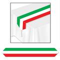 Printed Red, White & Green Table Runner