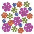 Retro Flower Deluxe Sparkle Confetti
