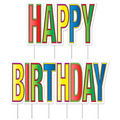 Plas Jumbo Happy Birthday Yard Sign Set