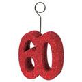 """Glittered """"60"""" Photo/Balloon Holder"""