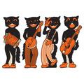 Scat Cat Band Cutouts