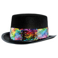 Felt Topper w/Rainbow Sequined Band