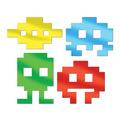 Metallic 80's Icon Silhouettes