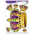 Mardi Gras Crowns Peel 'N Place