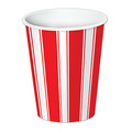 Red & White Stripes Beverage Cups
