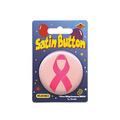 Pink Ribbon Satin Button