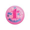 My 1st Birthday Satin Button