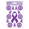 Purple Ribbon Stickers