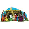 Vntg Xmas Gltrd Nativity SceneTable Dec