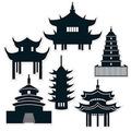 Pagoda Silhouettes