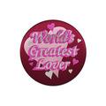 World's Greatest Lover Satin Button