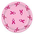 Pink Ribbon Plates