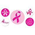 Pink Ribbon Buttons