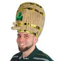 Plush Shamrock Beer Barrel Hat