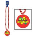 Beads w/It's My Birthday! Medallion