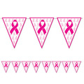 Pink Ribbon Pennant Banner