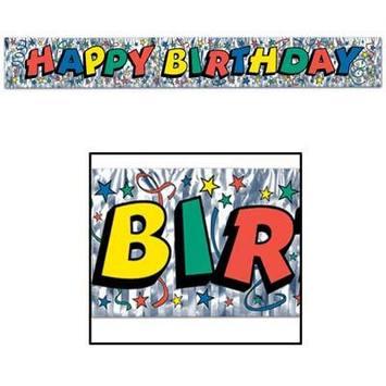Metallic Happy Birthday Fringe Banner picture