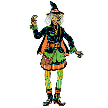Vintage Halloween Jointed Witch picture