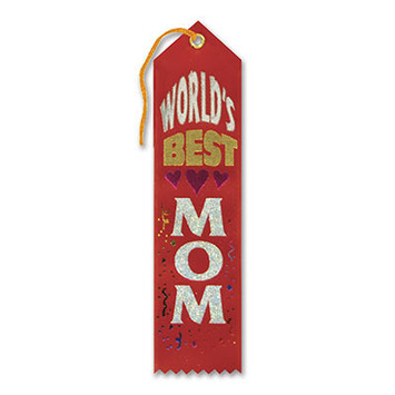 World's Best Mom Award Ribbon picture