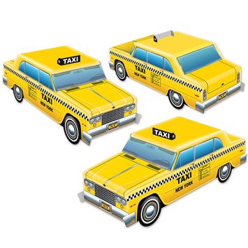 3-D Taxi Cab Centerpieces picture