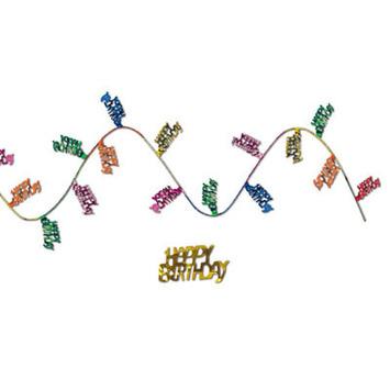 Gleam 'N Flex Happy Birthday Garland picture