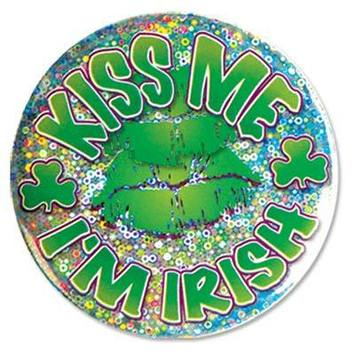 Kiss Me I'm Irish Button picture