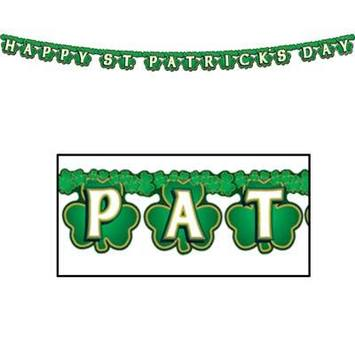 Shamrock Happy St Patrick's Day Streamer picture
