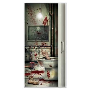 Creepy Crapper Restroom Door Cover picture