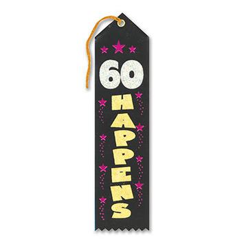 60 Happens Award Ribbon picture