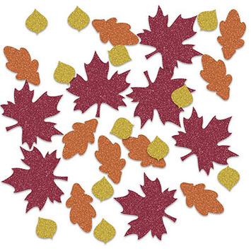 Fall Leaf Deluxe Sparkle Confetti picture