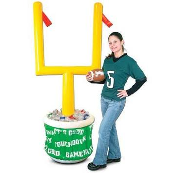 Inflatable Goal Post Cooler w/Football picture
