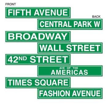 New York City Street Sign Cutouts picture