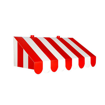 3-D Red & White Awning Wall Decoration picture