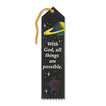 With God, All Things Are Possible Ribbon picture