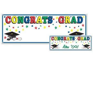 Congrats Grad Sign Banner picture