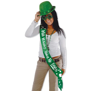 Irish Whiskey Makes Me Frisky! Satn Sash picture