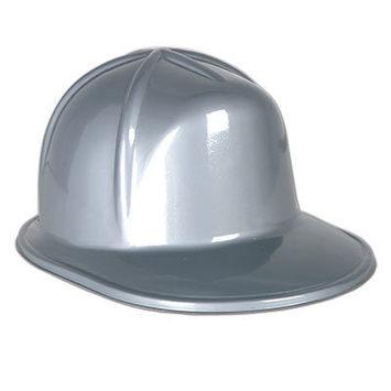 Silver Plastic Construction Helmet picture