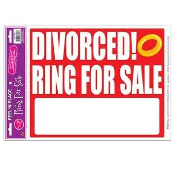 Divorced! Ring For Sale Peel 'N Place picture