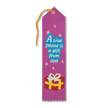 A True Friend Is A Gift From God Ribbon picture