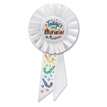 Today's My Birthday Rosette picture