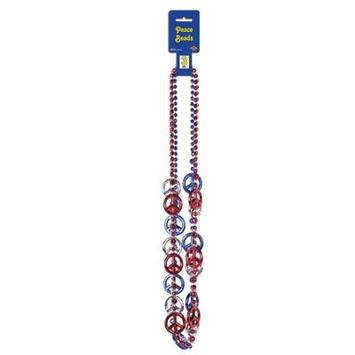 Patriotic Peace Sign Beads picture