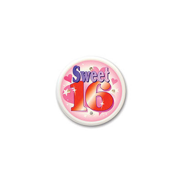 Sweet Sixteen Flashing Button picture