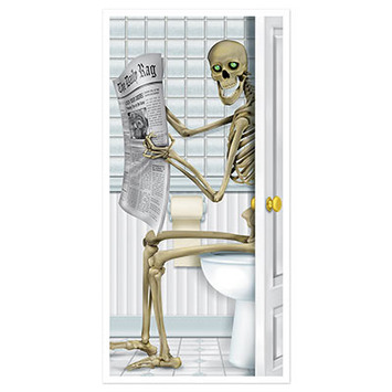 Skeleton Restroom Door Cover picture