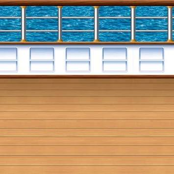 Cruise Ship Deck Backdrop picture