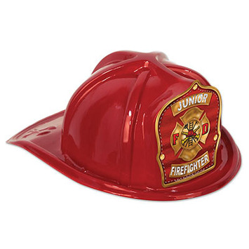 Red Plastic Jr Firefighter Hat picture
